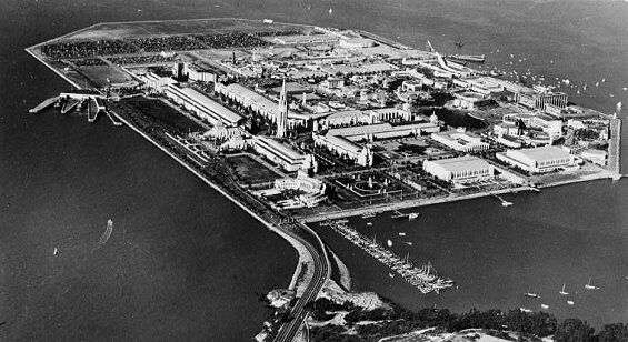Aerial view of Treasure Island