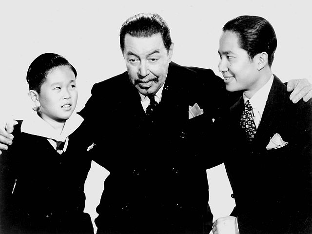 Layne Tom, Jr., Warner OIand, and Keye Luke.