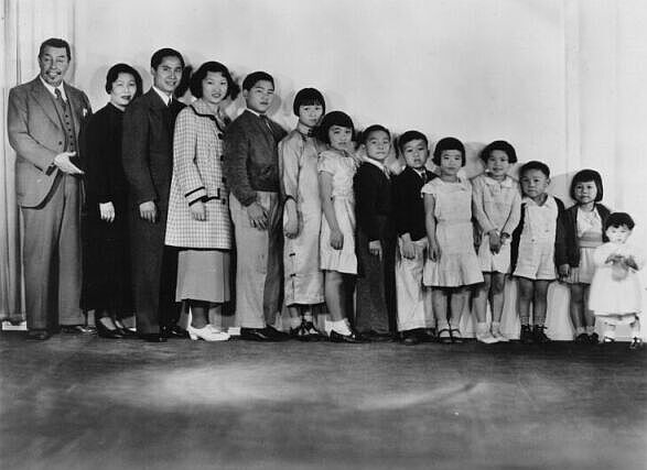 "The Chan family from ""Charlie Chan at the Circus"""
