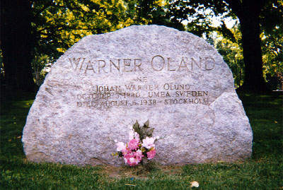 The grave of Warner Oland.