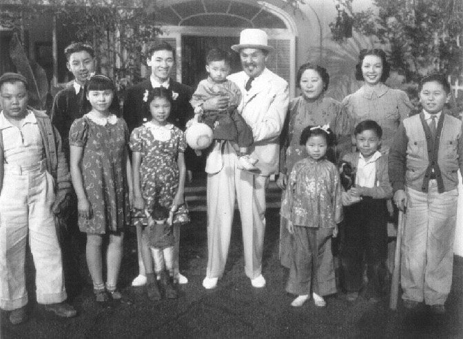 "The Chan family from ""Charlie Chan in Honolulu"""