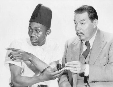 Warner Oland and Steppin Fetchit.