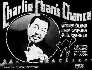"""Charlie Chan's Chance"""